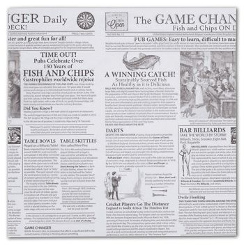 Food Grade Tissue Paper, Game Changer Newspaper, 12 x 12