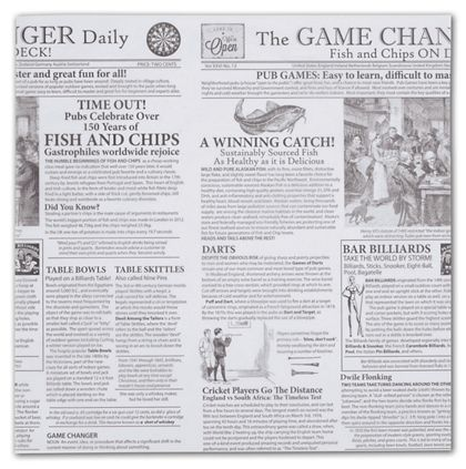 Food Grade Tissue Paper, Game Changer Newspaper, 12 x 12""