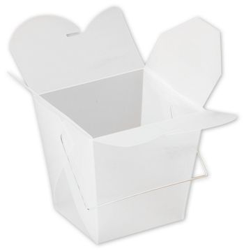 White Frosted Event Boxes, 4 x 3 1/2 x 4