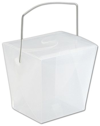 Clear Grooved Event Boxes, 4 x 3 1/2 x 4