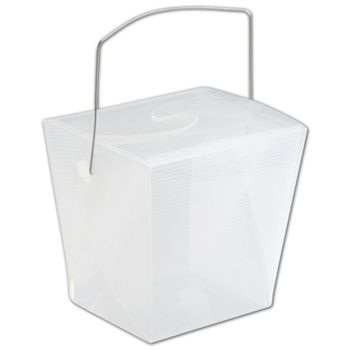 Clear Grooved Event Boxes, 4 x 3 1/2 x 4""