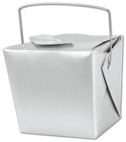 """Metallic Silver Paper Event Boxes, 2 3/4x2x2 1/2"""""""