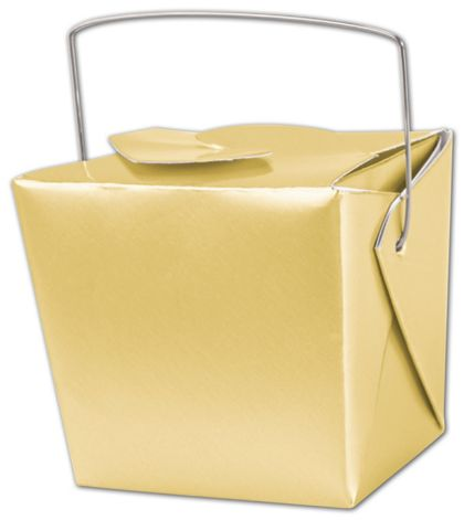 Metallic Gold Paper Event Boxes, 2 3/4 x 2 x 2 1/2""