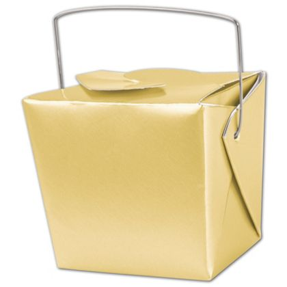 """Metallic Gold Paper Event Boxes, 2 3/4 x 2 x 2 1/2"""""""