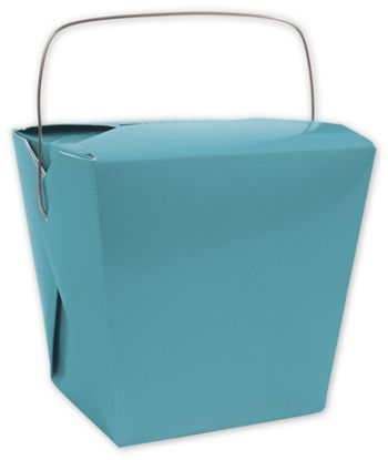 Turquoise Event Boxes, 4 x 3 1/2 x 4