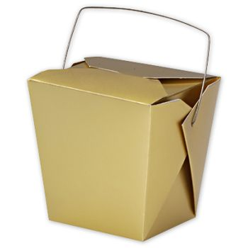 Metallic Gold Paper Event Boxes, 4 x 3 1/2 x 4