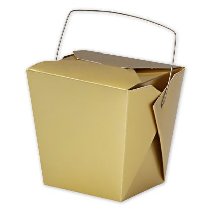Metallic Gold Paper Event Boxes, 4 x 3 1/2 x 4""