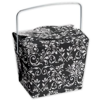 Black Damask Event Boxes, 2 3/4 x 2 x 2 1/2