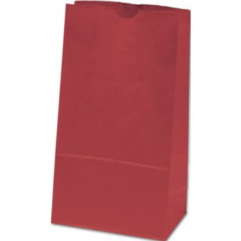 Brick Red SOS Bags, 4 1/4 x 2 3/8 x 8 3/16