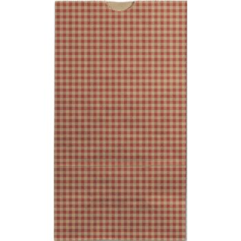 Red Gingham SOS Bags, 4 1/4 x 2 3/8 x 8 3/16""