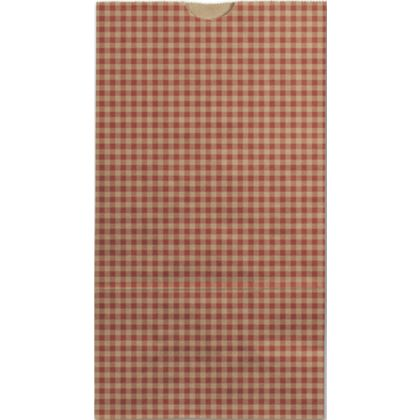 Red Gingham SOS Bags, 4 1/4 x 2 3/8 x 8 3/16