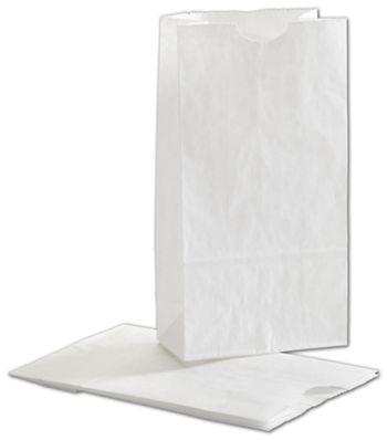 White SOS Bags, 4 1/4 x 2 3/8 x 8 3/16