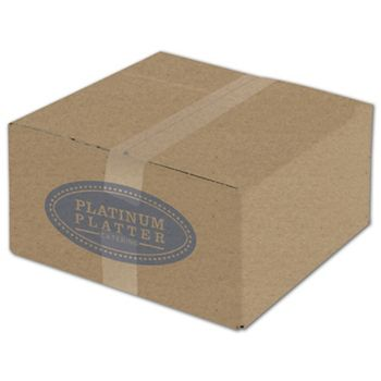 Kraft Printed Corrugated Boxes, 1 Color/1 Side, 12x12x6