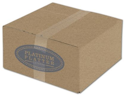 Kraft Printed Corrugated Boxes, 1 Color/1 Side, 12x12x6""