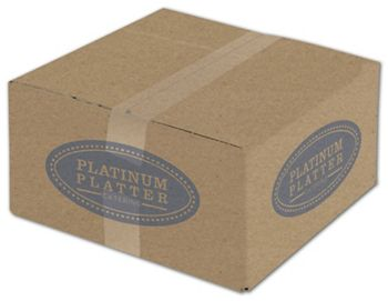 Kraft Printed Corrugated Boxes, 1 Color/2 Sides, 12x12x6