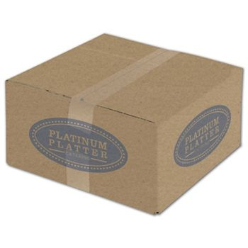 Kraft Printed Corrugated Boxes, 1 Color/4 Sides, 12x12x6