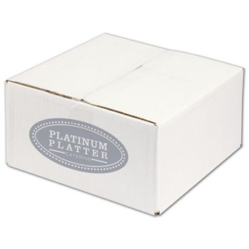 White Printed Corrugated Boxes, 1 Color/1 Side, 12x12x6
