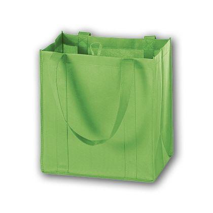 """Lime Unprinted Non-Woven Market Bags, 12 x 8 x 13"""""""