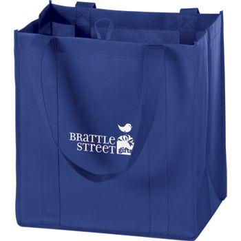 Royal Blue Non-Woven Market Bags, 12 x 8 x 13