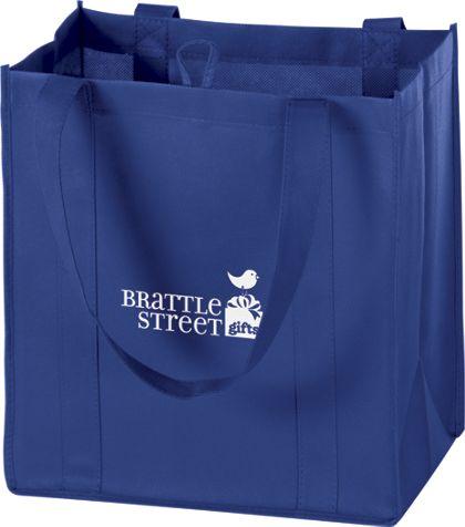 """Royal Blue Non-Woven Market Bags, 12 x 8 x 13"""""""