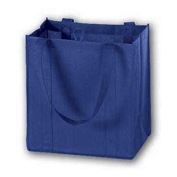 Royal Blue Unprinted Non-Woven Market Bags, 12 x 8 x 13