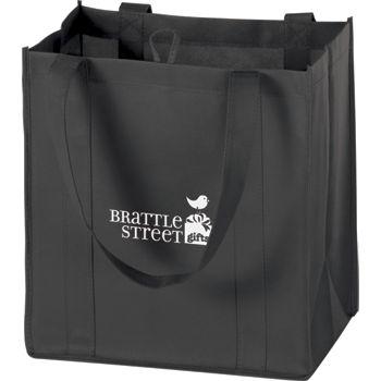 """Black Non-Woven Market Bags, 12 x 8 x 13"""""""