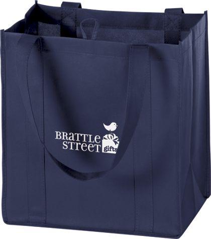 """Navy Non-Woven Market Bags, 12 x 8 x 13"""""""