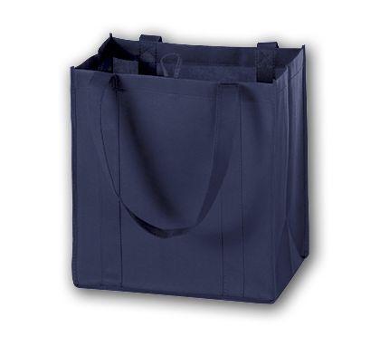 """Navy Unprinted Non-Woven Market Bags, 12 x 8 x 13"""""""