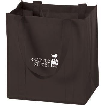 Chocolate Non-Woven Market Bags, 12 x 8 x 13