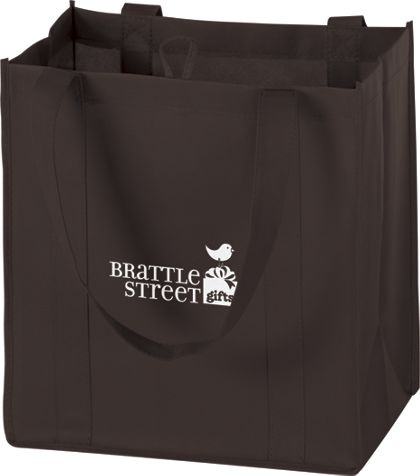 """Chocolate Non-Woven Market Bags, 12 x 8 x 13"""""""