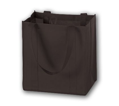 """Chocolate Unprinted Non-Woven Market Bags, 12 x 8 x 13"""""""