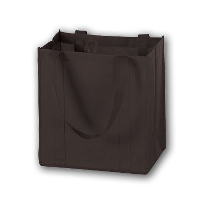 Chocolate Unprinted Non-Woven Market Bags, 12 x 8 x 13