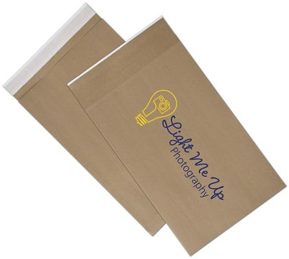 Natural Kraft Printed Eco-Mailers, 2 Colors, 12 1/2x4x20""