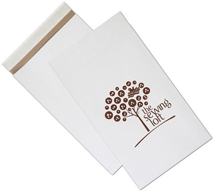 """White Printed Eco-Mailers, 1 Color, 12 1/2 x 4 x 20"""""""