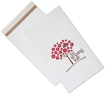 White Printed Eco-Mailers, 2 Colors, 12 1/2 x 4 x 20""
