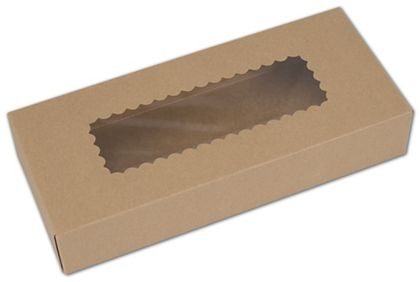 Kraft Windowed Bakery Boxes, 1 Piece, 12 1/2x5 1/2x2 1/4""