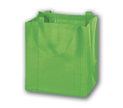 """Lime Unprinted Non-Woven Market Bags, 13 x 10 x 15"""""""