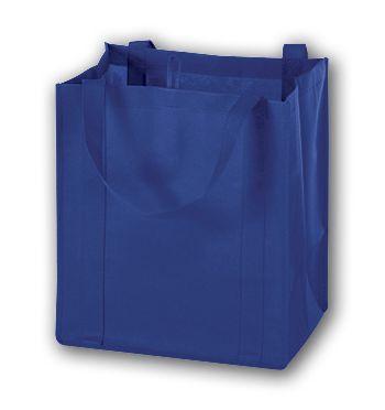 Royal Blue Unprinted Non-Woven Market Bags, 13 x 10 x 15