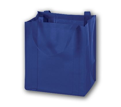 Royal Blue Unprinted Non-Woven Market Bags, 13 x 10 x 15""