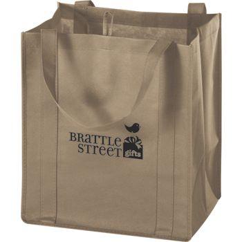 Tan Non-Woven Market Bags, 13 x 10 x 15
