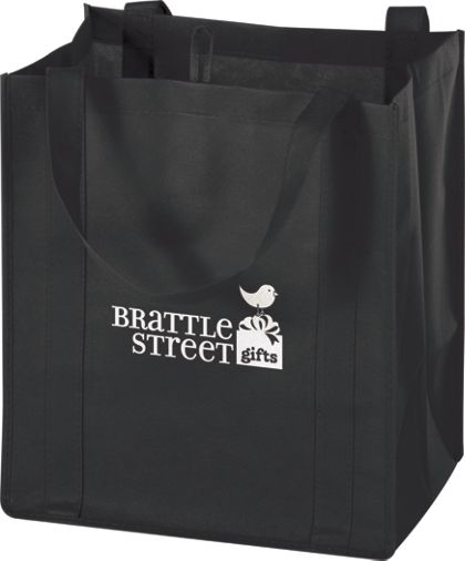 """Black Non-Woven Market Bags, 13 x 10 x 15"""""""