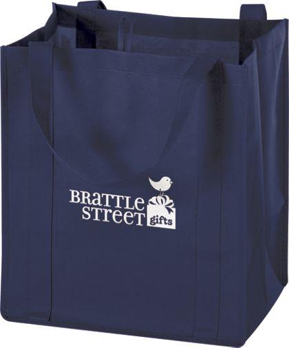 """Navy Non-Woven Market Bags, 13 x 10 x 15"""""""