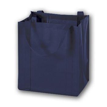 Navy Unprinted Non-Woven Market Bags, 13 x 10 x 15