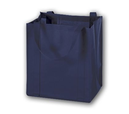 """Navy Unprinted Non-Woven Market Bags, 13 x 10 x 15"""""""