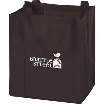 Chocolate Non-Woven Market Bags, 13 x 10 x 15