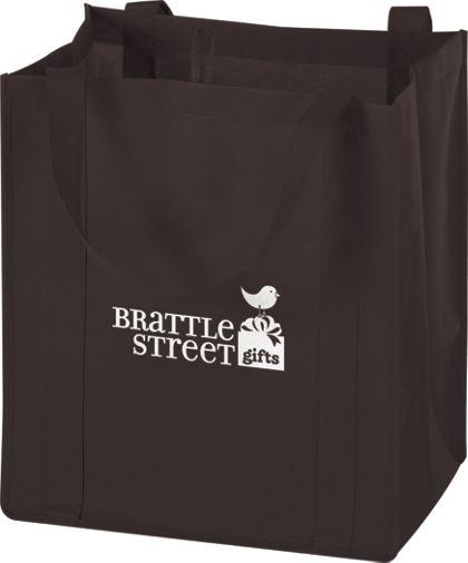 """Chocolate Non-Woven Market Bags, 13 x 10 x 15"""""""