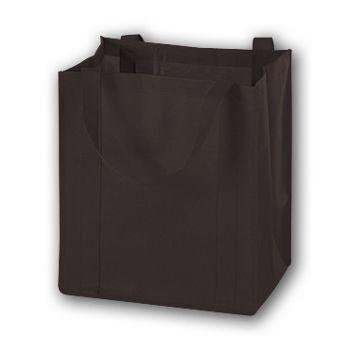 Chocolate Unprinted Non-Woven Market Bags, 13 x 10 x 15