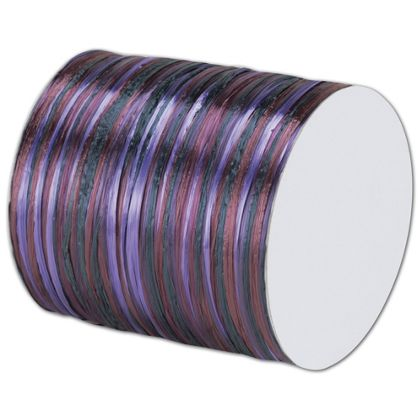 "Raffia Pearl Purple Multi Ribbon 1/4"" x 55 Yds"
