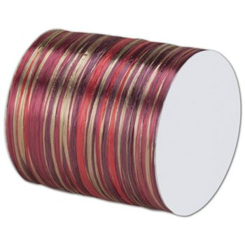 "Raffia Pearl Burgundy Multi Ribbon 1/4"" x 55 Yds"