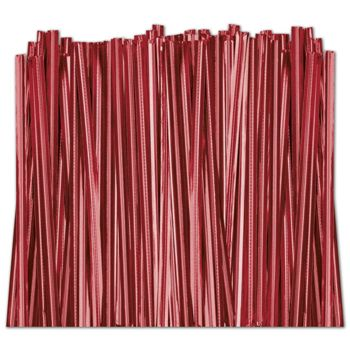 Red Metallic Twist Ties, 4""